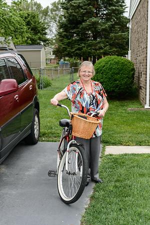 Ann Duke and Bike