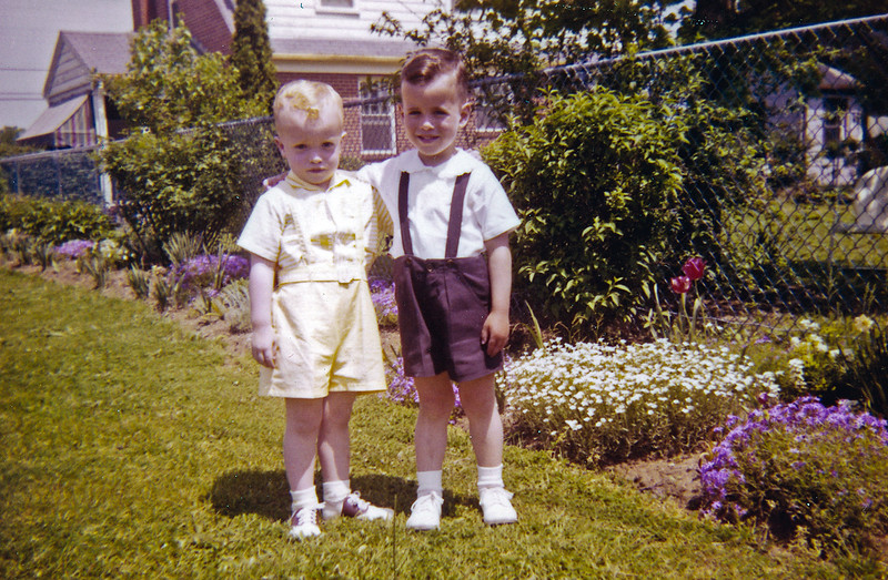 Gary and Linwood in Frilly Clothes 1958