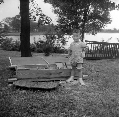 Gary Duke at Portsmouth Home July 1957