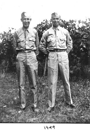 Otis and James Duke in Uniform 1944