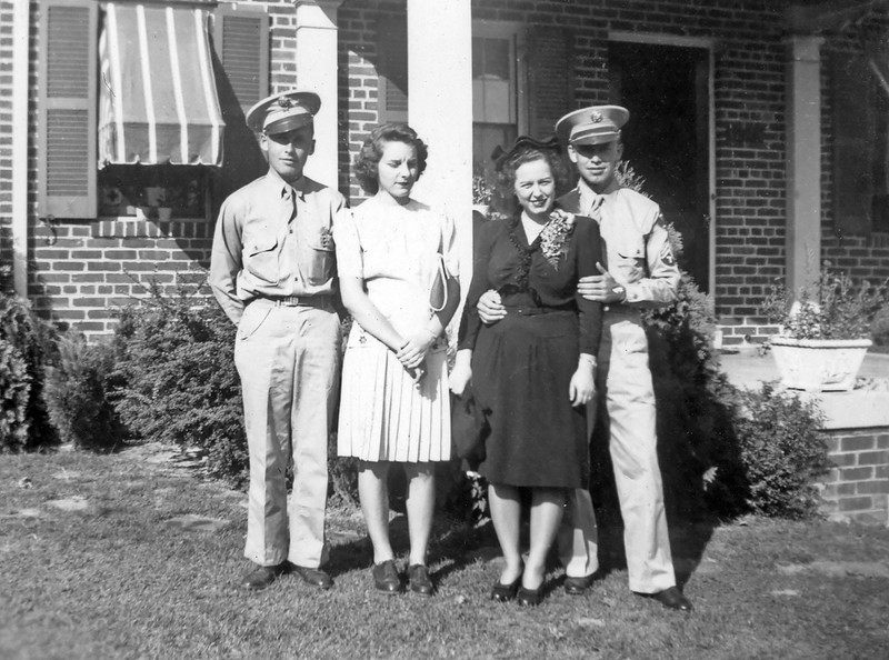 Otis and Charlie in Uniform circa 1943