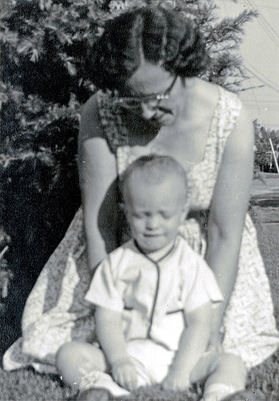 Linwood and mother circa 1956