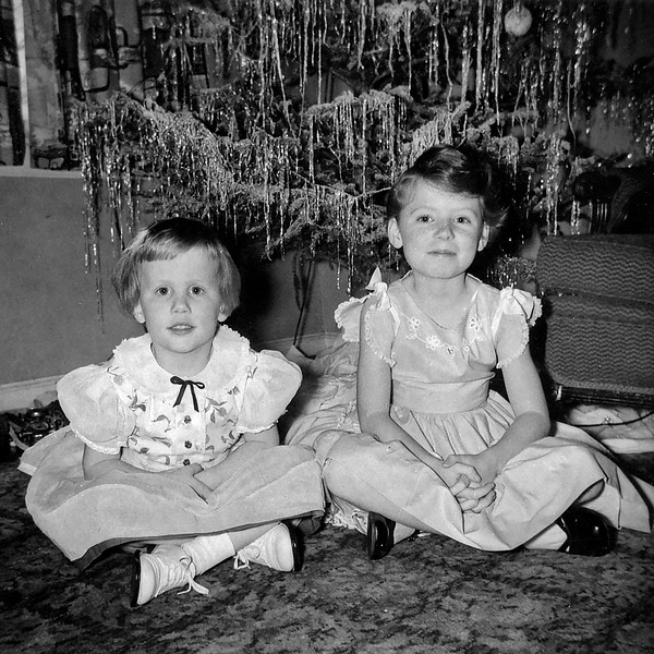 Nancy and Pat December 1956