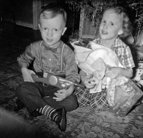 Christmas 1958 with Nancy