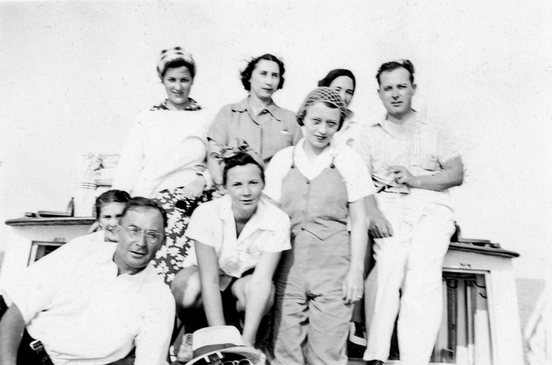 Ruth, Lucius and others circa 1934
