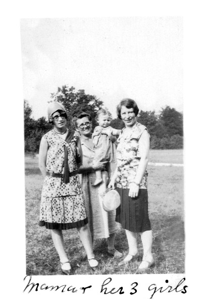 Bettie Duke and 3 Daughters circa 1931