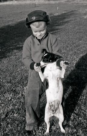 Linwood and Dog January 1960