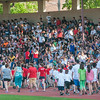 Students from across the city march in front of a huge crowd at Crocker Field for the Junior-Senior Relays. SENTINEL&ENTERPRISE/ Jim Marabello