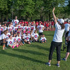 Christine Girard gets a group photo of the Crocker Elementary team, prior to the Junior-Senior Relays at Crocker Field. SENTINEL&ENTERPRISE/ Jim Marabello