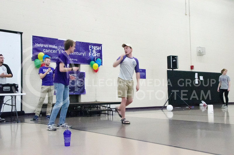 On the Spot Improv performs at Relay for Life on Saturday, March 2, 2018, at Chester E. Peters Recreation Complex. (Tiffany Roney | Collegian Media Group)