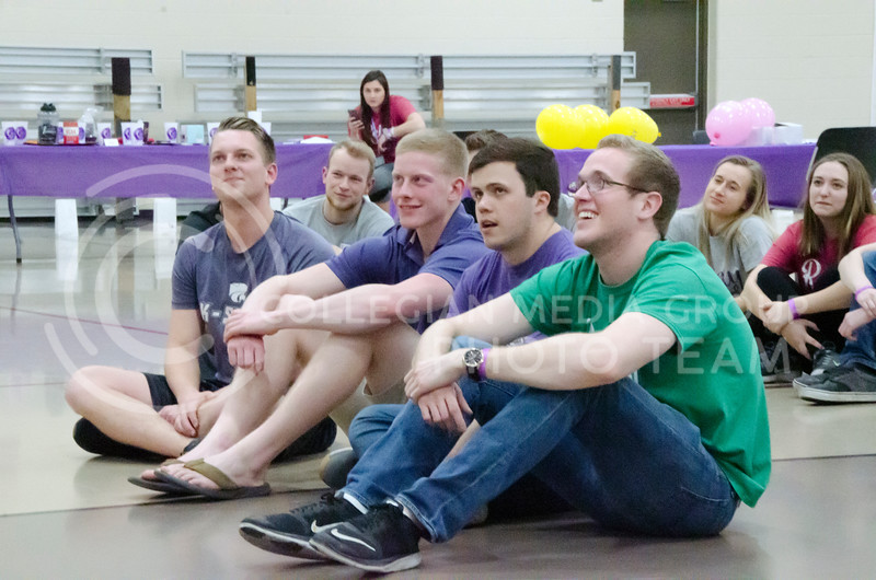 Relay for Life attendees watch On the Spot improv