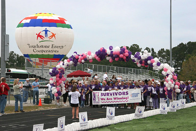 The Touchstone Energy Balloon helped kick off the Brunswick County Relay for Life - West Brunswick High School, Shallotte, NC.
