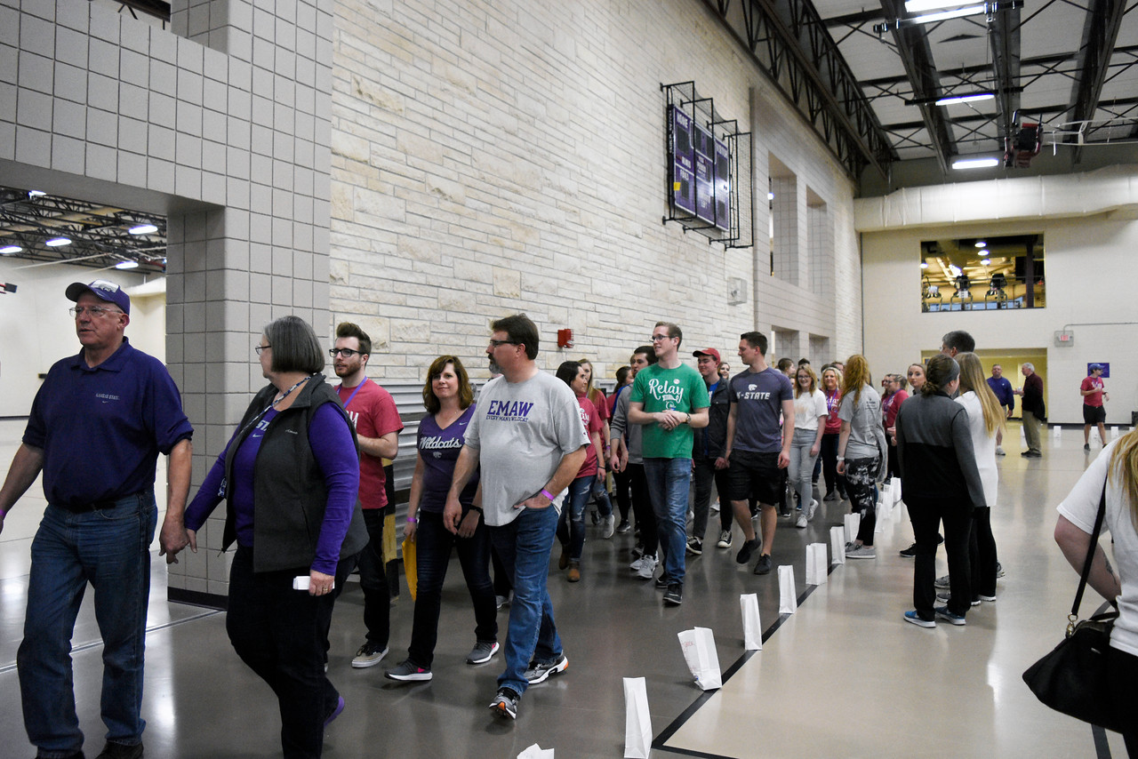 People are walking with the survivors at the Rec Center for the Relay for Life, on Saturday march 3, 2018<br /> Photo by: Hasan Albasri