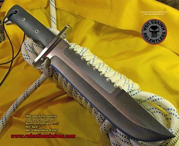 Relentless Knives M1A Custom Military Survival knife