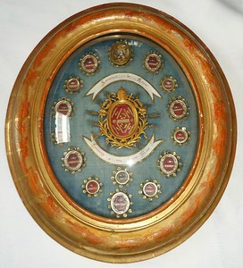 French souvenir reliquary from Rome, ca 1830s