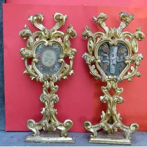 18th century giltwood pair from Verona