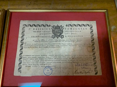 Certificate for previous
