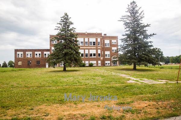 Closed School in Pilot Mound, Iowa