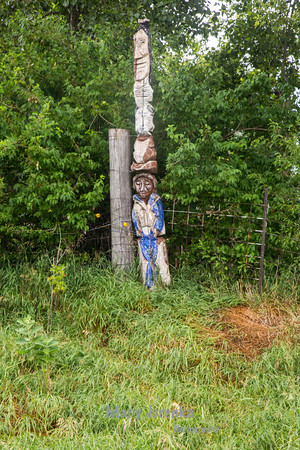 Totem at an Abandoned Camp in Iowa
