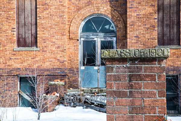 Abandoned Bagley School in  Guthrie County, Iowa