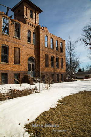 Abandoned Bagley School in  Guthrie County, Iowa