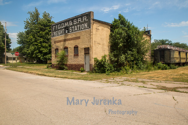 Deserted Freight Station in Boone, Iowa