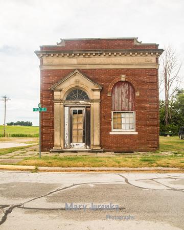 Old Bank in Pilot Mound, Iowa