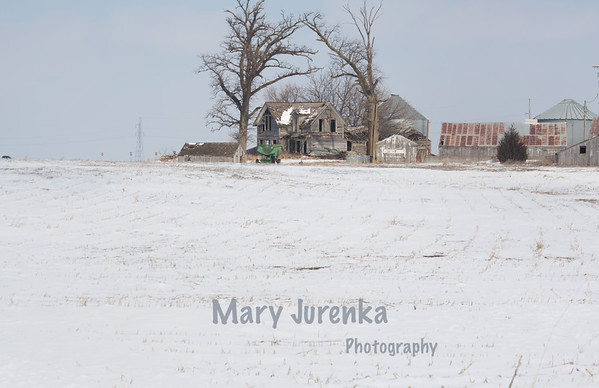 Deserted Farmhouse in Marion County, Iowa