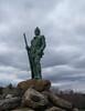 Statue of Nick Stoner at Nick Stoner Municipal Golf Course, 1083 St. Hwy. 10, Caroga Lake, New York