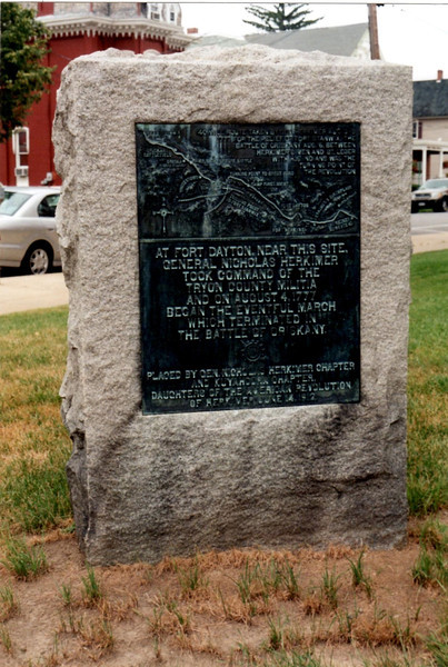 Historical marker on the site of Fort Dayton
