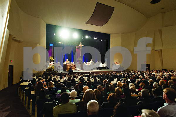 Photo by Shannon Wilson / Tyler Morning Telegraph  Many people gather for the Episcopal Ordination of Bishop Joseph E. Strickland as the 4th Bishop of the Diocese of Tyler at the Caldwell Auditorium in Tyler.