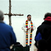 "Rev. Marty Lettow of Shepherd of the Hills Lutheran Church, speaks to the crowd on the beach.<br /> Easter Sunrise Service was held at the Boulder Reservoir by Trinity Lutheran Church and Shepherd of the Hills Lutheran Church, both of Boulder.<br /> For more photos and a video of the service, go to  <a href=""http://www.dailycamera.com"">http://www.dailycamera.com</a>.<br /> Cliff Grassmick/ April 24, 2011"