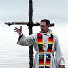 """Rev. Mark Twietmeyer of Trinity Lutheran Church, talks about the miracle of Christ rising from the dead.<br /> Easter Sunrise Service was held at the Boulder Reservoir by Trinity Lutheran Church and Shepherd of the Hills Lutheran Church, both of Boulder.<br /> For more photos and a video of the service, go to  <a href=""""http://www.dailycamera.com"""">http://www.dailycamera.com</a>.<br /> Cliff Grassmick/ April 24, 2011"""
