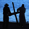"""Brian Haley, left, and Rev. Mark Twietmeyer, carry the cross to the beach of Boulder Reservoir.<br /> Trinity Lutheran Church in Boulder and Shepherd of the Hills Lutheran Church in Gunbarrel held an Easter  sunrise service at the Boulder Reservoir for the 17th year.<br /> For a video and more photos of the Easter service, go to  <a href=""""http://www.dailycamera.com"""">http://www.dailycamera.com</a> or  <a href=""""http://www.coloradodaily.com"""">http://www.coloradodaily.com</a>.<br /> Cliff Grassmick / April 8, 2012"""