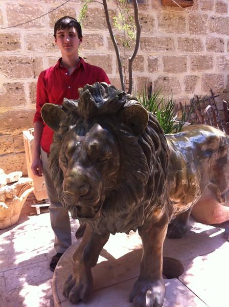 У статуи льва Иордана