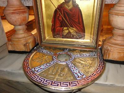 Голгофа. Место, где стоял Крест Иисуса.