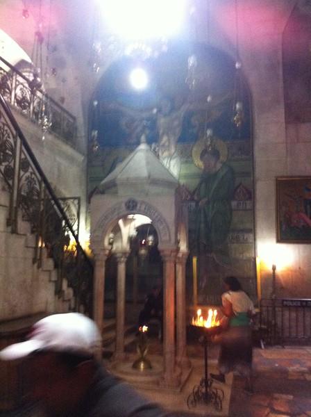 Место, где стояла Божья Матерь во время Распятия