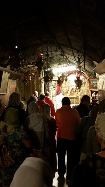 Литургия в пещере Рождества