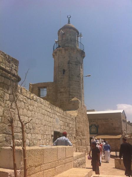 Елеонская гора вход в часовню Вознесения Господня
