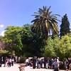 Во дворе базилики св. Анны