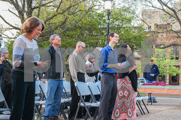 Easter Worship on the Square