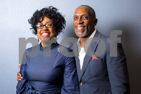 New Life Community Church First Lady Denise Robertson and Pastor Dr. Vernon M. Roberston pose for a portrait before an Easter service at New Life Community Church in Tyler, Texas, on Sunday, April 16, 2017. (Chelsea Purgahn/Tyler Morning Telegraph)
