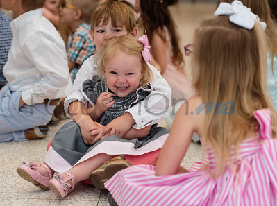 Beau Patton, 5, holds his little sister Sawyer, 2, during the Family Easter Celebration and Butterfly Release held at Marvin United Methodist Church in downtown Tyler on Sunday April 21, 2019.   (Sarah A. Miller/Tyler Morning Telegraph)