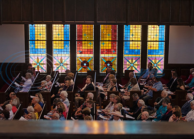 People fill the pews for the traditional Easter service at Marvin United Methodist Church in downtown Tyler on Sunday April 21, 2019.   (Sarah A. Miller/Tyler Morning Telegraph)