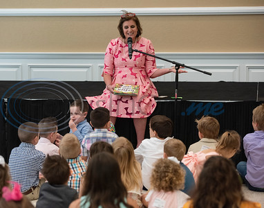 Julie Brown, director of children's ministry at Marvin United Methodist Church, reads a Bible story to children  during the Family Easter Celebration and Butterfly Release held at the church in downtown Tyler on Sunday April 21, 2019.   (Sarah A. Miller/Tyler Morning Telegraph)