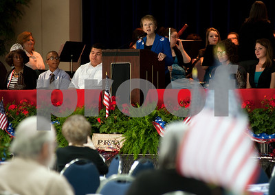 photo by Sarah A. Miller/Tyler Morning Telegraph  during the 22nd Annual Mayor's Prayer Breakfast held Thursday at Harvey Hall in Tyler. The event coincides with the National Day of Prayer.