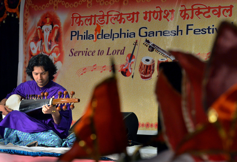 A Hindustani Classical Music Concert is performed during the the Philadelphia Ganesh Festival at Bharatiya temple in Montgomery Township on Friday September 10,2013. Photo by Mark C Psoras