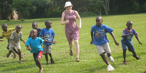 Africa Pictures--playing outside with the kids