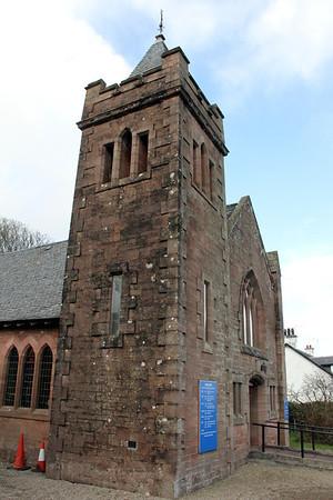 Tower of Brodick Parish Church. 1 January 2012.