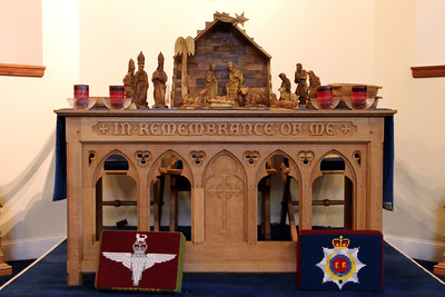 The crib on the the Altar in Brodick Parish Church. 1 January 2012.